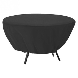 напольные покрытия для мебели оптовых-Round Table Dust Cover Outdoor Waterproof Garden Patio Furniture Covers