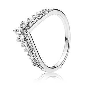 Wholesale pandora princess ring resale online - Trendy Genuine Sterling Silver Shimmering Princess Wishbone Ring For Women Wedding Engagement Party Pandora Jewelry Gift