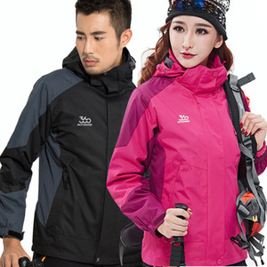 Wholesale 2019 Men and Women Ski Jacket Winter Snowboard Suit Men's Outdoor Warm Waterproof Windproof Breathable 2 in 1 Jackets