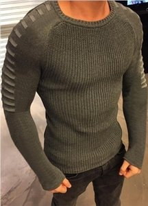 O-neck Autumn Mens Sweaters O-neck Fashion Hollow Designer Slim Fit Long Sleeved Tops on Sale