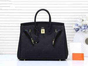 Brand designer handbags H K women Luxury purse litchi pattern pu leather women fashion Paris style lock totes purses bag 35 CM