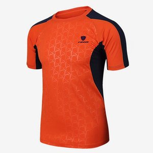 Hot Sale Men Short Sleeve T-shirts Tennis Shirt Outdoor Sports Running Workout Jogging Clothing Fitness Tees Male Badminton Tops on Sale