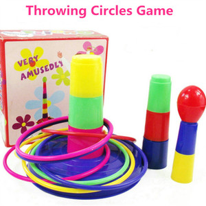 Wholesale Throwing Ring Game Children Fun Sports Toy Outdoor Toy Circle Ferrule Stacked Layers Game Parent Child Interaction Toys