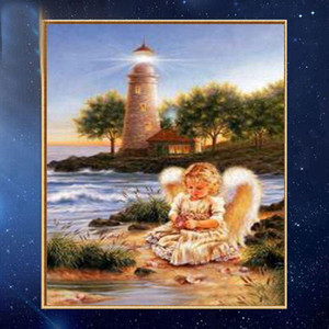Wholesale diy diamond painting angel for sale - Group buy YGS DIY Partial D Diamond Embroider The Angel Round Diamond Painting Cross Stitch Kits Diamond Mosaic Home Decoration