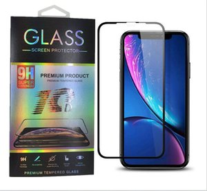 Wholesale for iPhone XS Max XR plus Tempered Glass D Screen Protector for iPhone X Full Cover Film with Retail Package