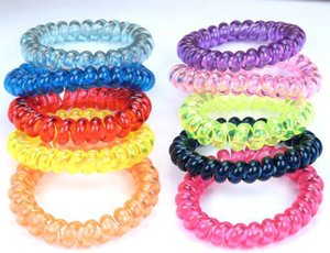2019 Brand new Candy color hair circle jelly large phone line tie hair rope rubber band head flower mix order on Sale