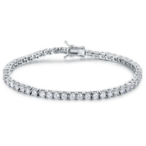 Wholesale sterling silver tennis resale online - Best Quality A Entire mm mm CZ Tennis Bracelet In Real Solid Sterling Silver Classial Jewelry