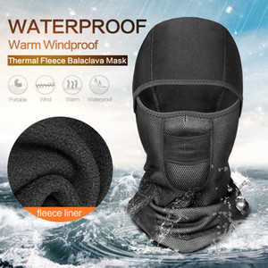 Unisex Winter Warm Hat Waterproof Windproof Face Mask Hat Neck Helmet Beanies Sports Bicycle Thermal Fleece Balaclava Hat MC174