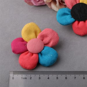 Wholesale Flower Parts Diy Crafts Cotton And Linen Hair Ornament Clothing Accessories Beautiful Manual Brooch Style Girl zb