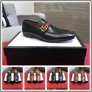 Wholesale 19ss Men Formal Business Brogue Shoes Luxury Men s Crocodile Dress Shoes Male Casual Genuine Leather Wedding Party Loafers