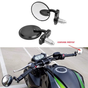 Black 7 8 22mm Universal Round CNC Motorcycle Rearview Bar End Mirrors For Honda Kawasaki Suzuki Yamaha