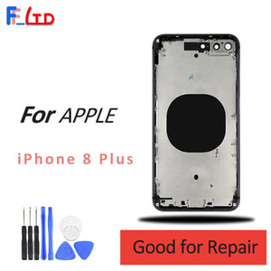 OEM for iPhone 8 Plus Back Housing with Middle Frame Side Buttons Camera Ring Assembly 5.5inch Rear Cover on Sale
