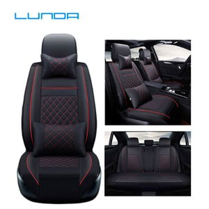 Wholesale Lunda Car Seat Covers for Audi a3 a4 b6 b8 a6 a5 q7 Seat Covers 1 set protector car cushionAuto motive car styling 5 seats