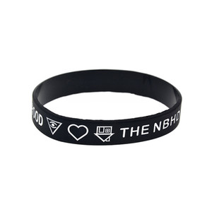 Wholesale bracelet rubber bands resale online - 100PCS Rock Style Band NBHD The Neighbourhood Silicone Rubber Bracelet for Concert Gift Black Adult Size