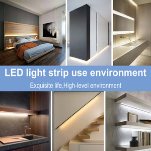 mueble exterior al por mayor-Impermeable Lámpara flexible Cinta Sensor de movimiento M USB Tira LED Stripe Luz Cocina Armario Armario Escalera Noche Luz LED Lámpara Strip MS012