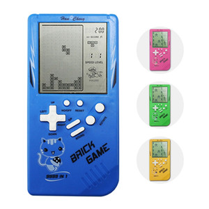Wholesale Classical Tetris Game Console Nostalgic Big Screen Game Players Retro Portable Tetris Handheld Kids Gaming Controller Brick Game