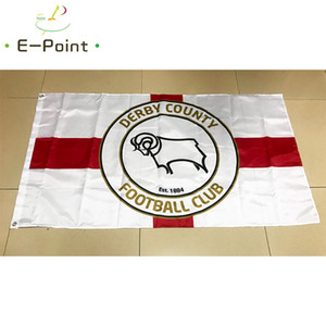 Flag of England Derby County FC 3*5ft (90cm*150cm) Polyester EPL flag Banner decoration flying home & garden flag Festive gifts