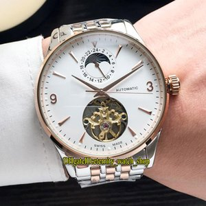 Wholesale Luxry New MASTER CONTROL Q1562521 White Dial Moon Phase Big Tourbillon Automatic Mens Watch Rose Gold Case L Steel Band Casual Watches