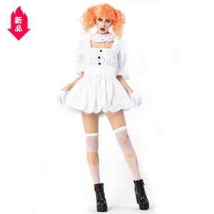 Wholesale Halloween Ghost A Doll Clown Clothing Adult Cos Show Costume White Dress Blood Sucking Ghosts And Ghosts Bride