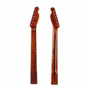 Wholesale Guitar Tiger Flame Maple Neck 21 Fret Replacement For Fender Tele Telecaster p6