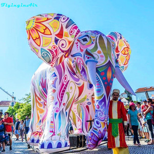 5m Inflatable Painting Parade Elephant Giant Colorful Inflated Tour Elephant with Coloured Drawings on Sale
