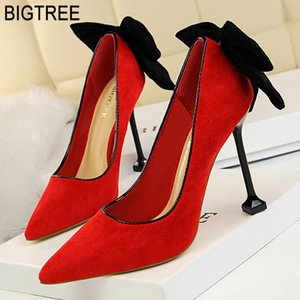 Wholesale Bigtree Shoes Women Pumps Spring Women Shoes High Heels Butterfly knot Wedding Ladies Kitten Heels Stiletto