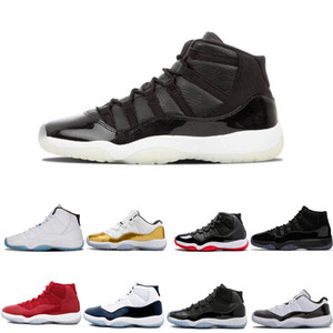 Wholesale New 11 11s concord 45 Platinum Tint Men Women Basketball Shoes cap and Gown gym red bred Legend gamma blue Sports trainer Sneaker