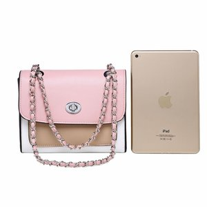 Free Shipping Luxury Women's Stlylish Mini Messenger Bags Chain Shoulder Crossbody Bag Pink Handbag Casual Small Flap Bag Phone Coin Bag on Sale