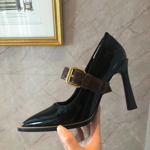 Wholesale 2019 new arrival women s fashion sexy heels shoes office lady casual black thin heel dress shoes girls coffee pointed toe big size B09
