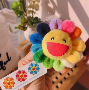 New Sunflowers Takashi Murakami Kiki Kaikai Brooch Rainbow Pin Badge Strap Plush Pendant Cute Free Shipping Factory