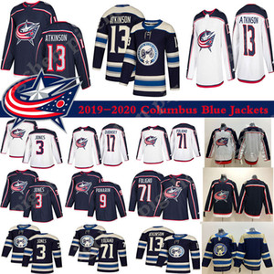 Men's 2019 Columbus Blue Jackets Jersey 3 Seth Jones 9 Artemi Panarin 71 Nick Foligno 72 Sergei Bobrovsky hockey jerseys