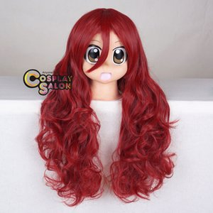 Wholesale ePacket CM Anime Ivy Red Curly Long Halloween Party Cosplay Wig