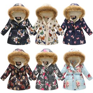 Girls Jackets 2019 Winter Coats Cotton-Padded Girls Clothes Children Fur Collar Jackets For Girls Costume Kids Hooded Outerwear FLE418 on Sale