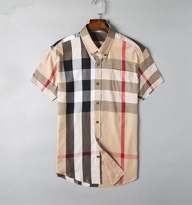 2019 brand men's business casual men's shirt, long sleeved striped shirt, new men's Fashion Association, polo shirt A30