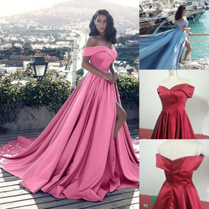 Wholesale Sexy Women s Sleeveless Mermaid Satin V Neck Long Evening Dress with Pockets Plus Robe De Soiree Floor Length Prom Gown Vestido De Festa