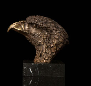 Wholesale Art Deco Sculpture Animal Eagle Hawk Head Bronze Statue Bronze Arts outlets