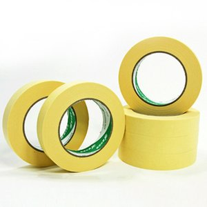 Wholesale 50M High Temperature Resistant Paint Spray Masking Tape Automotive Performance Refinish Yellow Masking Tape Protect