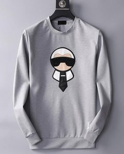 Wholesale 2019 Fashion Hoodie Pullover High Quality O Neck Little Monster Rivet Mens Designer Hoodies Luxury Casual Men Sweatshirt Asian Size M XL