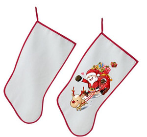 Wholesale sublimation christmas stocking christmas decoration Socks personalized blank diy custom consumables supplies hot transfer material SN3237