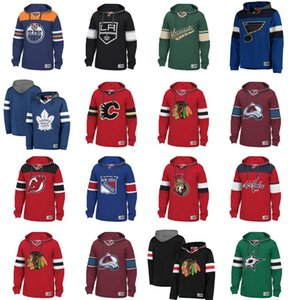 Wholesale Mens NHL Hockey Hoodies Pullover Chicago Blackhawks Canucks St. Louis Blues Tampa Bay Lightning New York Rangers Boston Bruins sweatershirts