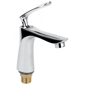 Wholesale 170 mm G1 quot Kitchen Bathroom Basin Faucet Single Hole Hot and Cold Water Faucet Tap with Inlet Pipe Hose