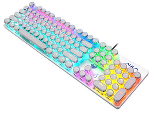 ingrosso giocatore tastiera meccanica-Gaming Keyboard Steam Punk Tasti Tastiere retroilluminati Wired USB Impermeabile Tesoro meccanico Steam Punk Gamer Tastiera