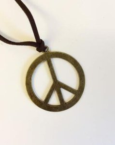 Wholesale peace sign pendant necklaces resale online - New Vintage Bronze Peace Sign Necklace Charms Creative Choker Velvet Rope Collar Statement Necklace Pendant Jewelry Women Gifts