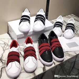 Wholesale designer shoes luxury leather sneaker paris signature knots trainers for men women elastic bands 4G webbing sneakers size 35-45 Casual shoes
