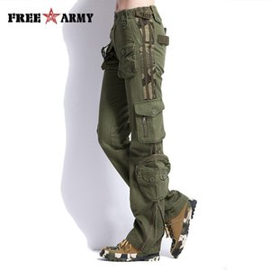 Wholesale winter army trousers resale online - Large Size Cargo Pants Women Winter Military Clothing Tactical Pants Multi pocket Cotton Joggers Sweatpants Army Green Trousers Y19070101