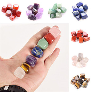 Wholesale shoes dancing resale online - Natural Crystal Chakra Stone Set Natural Stones Palm Reiki Healing Crystals Gemstones Home Decoration Accessories