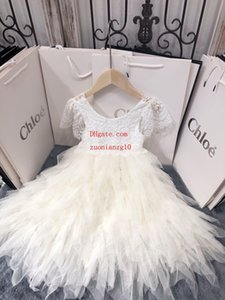 Wholesale 2019 summer baby girls dress Eyelash side feather dress skirt children clothing casual fashion party dresses kids clothes girls ABD