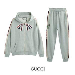 Wholesale Fashion Men Designer Tracksuits Luxury Jacket Pants Two Piece Sets Bow Style Forr Womens Brand Tracksuit Sports Men Streetwear iiceec