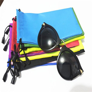 Wholesale Colorful Sunglasses Pouch Dust Waterproof Sunglass Bag Portable Drawstring Eyeglasses Cases Cellphone Watch Pouch Carry Bag