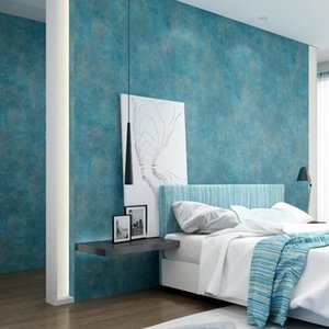 Wholesale European Modern Fashion Style Wallpapers Living Room Background Wallpaper d Wall Papers Non woven Home Decor Blue Wall Paper Roll